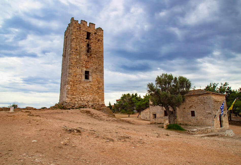 The Best Historical Places in Halkidiki - Byzantine Tower - Greek Transfer Services